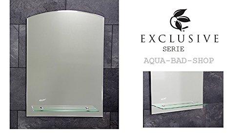 Specchio da bagno dal design moderno/Hall Spe Riccio con design ad arco-cpdi colore con ripiano in vetro, dimensioni: 70x 50cm