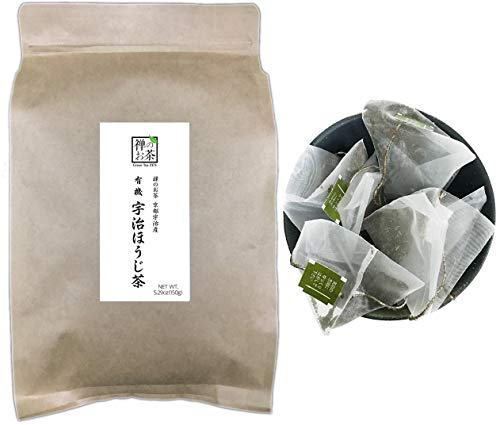 Zen no Ocha Japanese Hojicha Tea Bag 100% Organic 5.29oz(150g) 100 Pieces Made in Kyoto uji Japan