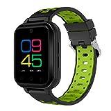 xinxinyu Smart Watch Android 6.0 4G Llamadas telefónicas 1G RAM 8G ROM GPS WiFi IP67 Waterproof Fitness Tracker Reloj de Pulsera Deportivo para Hombre y Mujer, Verde