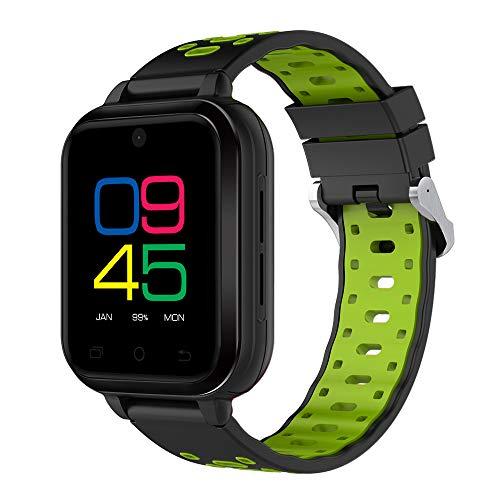 FeiliandaJJ Smartwatch Herren Damen Bluetooth GPS WiFi Wasserdicht Fitness Tracker 4G Telefon-Anruf Smartwatch SIM Karte Slot Schlaferkennung Kompatibel Android Phones,RAM 1GB + 8GB ROM (Grün)