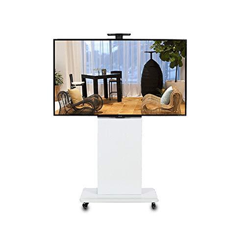 Entertainment-konsole Plasma Lcd (XUE Rolling TV Stand Mobile TV Karte, für LCD LED Plasma Flache Panels Stand mit Rädern, geeignet für 40 bis 80 Zoll, 360 Grad drehbar, höhenverstellbar, Schlafzimmer, Wohnzimmer)