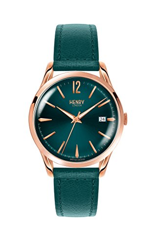 Henry London Unisex-Armbanduhr Stratford Analog Quarz Leder HL39-S-0134