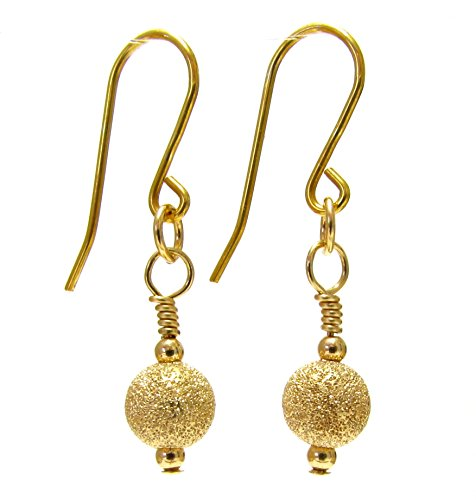 Love Edelstein Schmuck 9 ct Gelb Gold Stardust Ball Drop - Ohrringe Gold Ball Drop