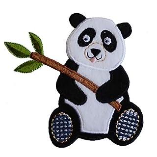 TrickyBoo 2 Aufbügler Panda 9X9cm Fuchs 7X8cm Set Aufnäher Flicken Applikationen zum Ausbessern von Kinder Kleidung mit Design Zürich Schweiz für Deutschland und Österreich