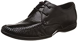 egoss Mens Black Leather Formal Shoes - 8 UK/India (42 EU)