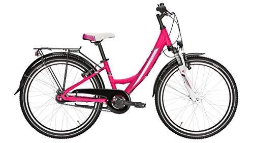 Pegasus Avanti 7/24 Zoll Wave Mädchenfahrrad 2019 mit 7 Gang Nabenschaltung, Rahmenhöhe:32 cm, Farbe:pink