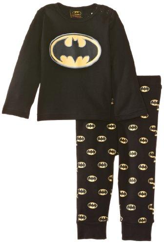 Batman - Pijama para bebé, color negro, talla 6-12 meses (68/80)