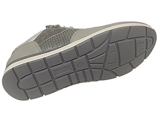 Ladies Baltimore/Academy Low sneaker puntale in tela, stringate, pompe scarpe da ginnastica all Star scarpe casual taglia 13 – 8 Lt Grey