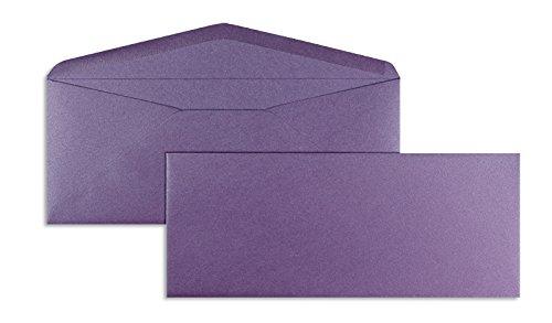 Blanke Briefhüllen - 100 Briefhüllen im Format 90 x 220 mm in Glamour Violett