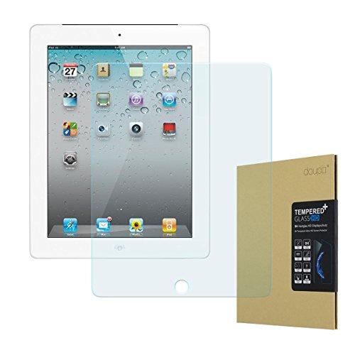 doupi Panzerfolie für iPad 2 / 3 / 4, Premium 9H Hartglas HD Display Schutz Glasfolie (Ipad 4 Screen Protector)