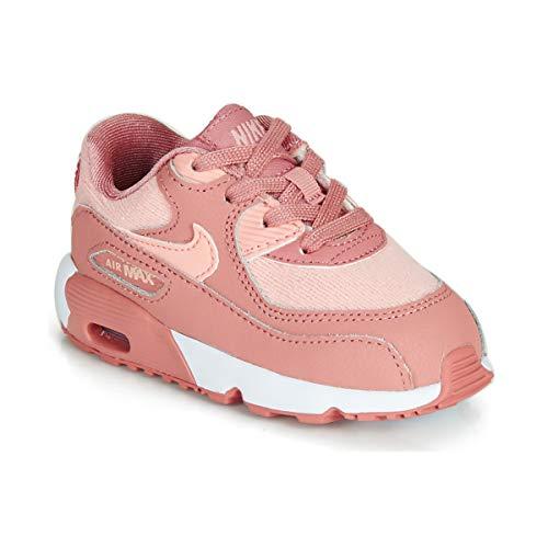 Nike Unisex-Kinder Air Max 90 Se Mesh (td) Laufschuhe Mehrfarbig (Rust Storm Pink/Guava Ice/White 601), 26 EU