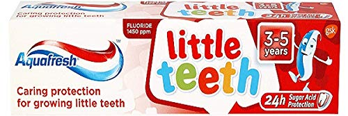 Aquafresh Toothpaste Little Teeth 3-5 Years 50ml (Pack of 6)
