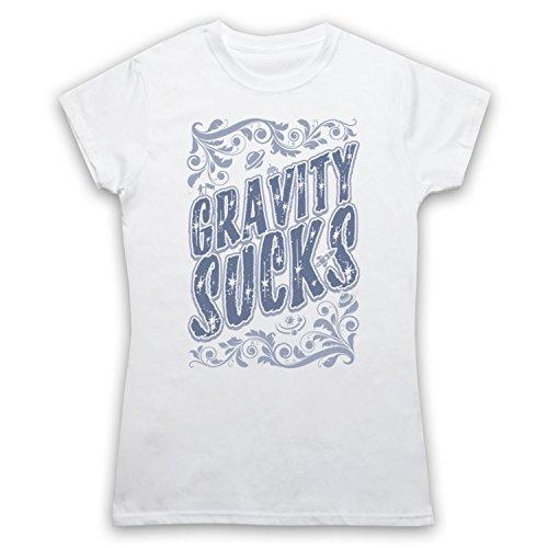 Gravity Sucks Astrophysics Damen T-Shirt Weis