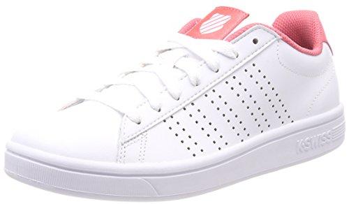 K-Swiss Damen Court Casper Sneaker, Weiß (White/Sunkist Coral 160), 36 EU