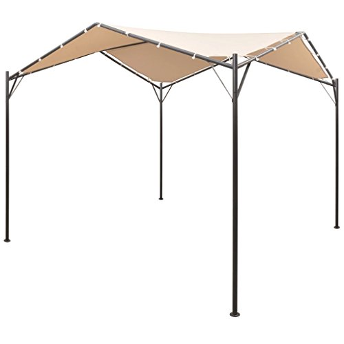 Festnight Cenador Carpa/Terraza de Acero,Playa Jardin Piscina Camping Beige,4x4 m-Tipo1 (Tipo1, 4x4...