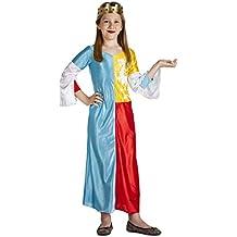 Disfraz de Reina Medieval Niña (5-6 años)