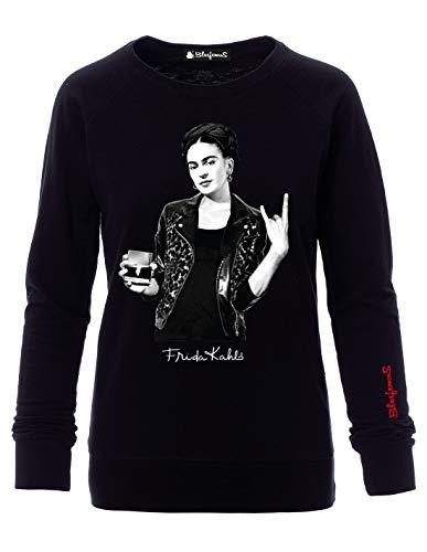 Sudadera Mujer Frida Kahlo Oficial Estilo Rock Negro XL