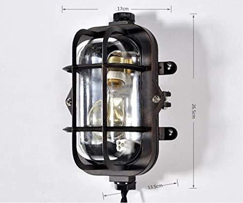 B&D BD Hauptbeleuchtung Retro Stil Wandleuchte Kreative Persönlichkeit Wind Eisen Industrie Loft Einfache Licht Einzigen Kopf Stilvolle Einfachheit,# 1 - Eisen Band 1 Licht