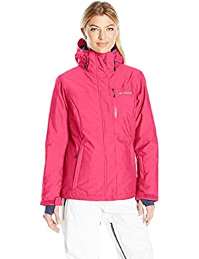 Columbia chaqueta impermeable invierno emociones mujeres, mujer, color Rojo - Ruby Red, tamaño small