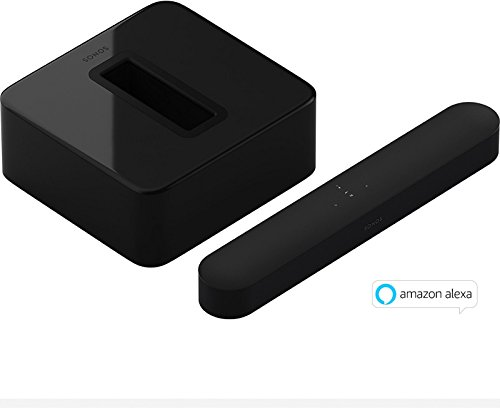Sonos Beam WLAN-Speaker + Sub WLAN Subwoofer,  schwarz