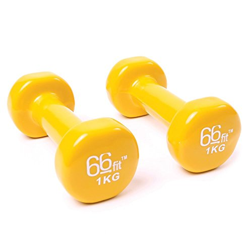 66fit-Vinyl-Coated-Dumbbells-Set-of-2-Gym-Fitness-Exercise-Biceps-Weight-Training