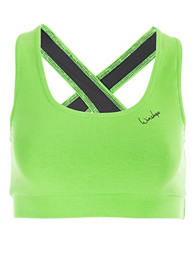 Winshape Damen BH WVR4 mit offenem Drop Back Design, All-Fit Style Fitness Freizeit Sport, apfelgrün, S (Back Sport-bh-sexy)