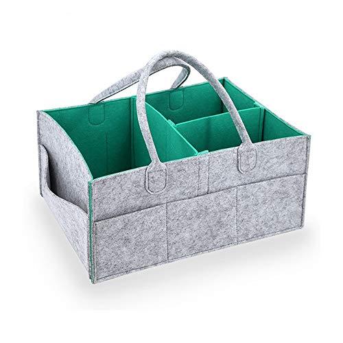 TEAMWIN Filz Baby Windel Caddy Organizer Korb tragbar Storage Bin groß Kindergarten Tasche mit herausnehmbaren Trennwänden für Wickelkommode, Beißring, Windel, Lätzchen Best Baby Dusche Geschenk Korb