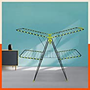 Bathla Mobidry Duo - Medium Size, 2-Level Foldable Cloth Drying Stand with Socks Holder & Clip