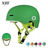 XJD Casque de Vélo pour Enfants Casque Réglable de Skateboard Anti-Choc Protection pour Cyclisme Skate Trottinette pour Filles Garçons 3-13 Ans Version 2,0 (Vert, S)