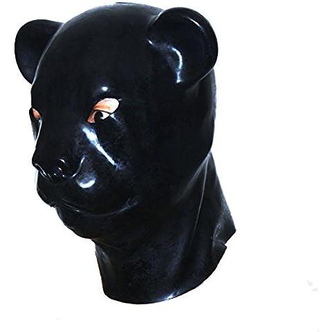 EXLATEX l¨¢tex de la capilla animal del leopardo de goma m¨¢scara de fetiche de accesorios con cierre de cremallera