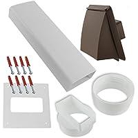 Spares2go PVC muro Vent-Kit per carenatura per Fagor sfiato asciugatrice, colore: marrone