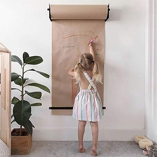 BDMF An der Wand montiert Kraftpapier Rollenhalter mit Roller Zeichnung Kraft Papier wiederverwendbar Und Horizontal Splitter - Studio Wand Dekoration - Bürokonzept - Flipchart, 2 Größe,M
