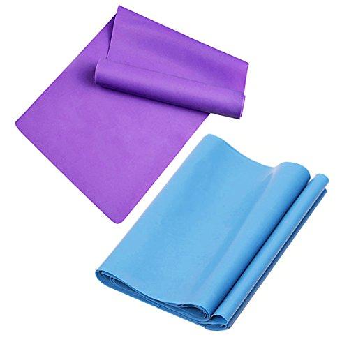 Alletechplus, fascia elastica, resistenza 2m.2 fasce elastiche lunghe, attrezzatura per ginnastica in casa, senza lattice, per fisioterapia, pilates, stretching, yoga, allenamento, esercizi.