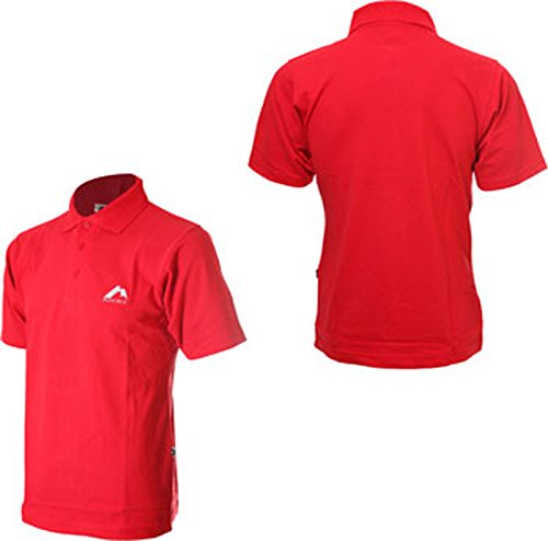 More Mile Herren Sport und fitness Kurzarm Polo Shirt Red