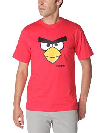 Angry Birds - T-Shirt - Droit - Fantaisie - Homme - Rouge - L