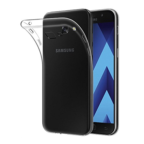 Coque-Samsung-Galaxy-A3-2017-Angozo-Transparent-Clair-Coque-Housse-Etui-de-protection-en-TPU-Silicone-pour-Samsung-Galaxy-A3-2017