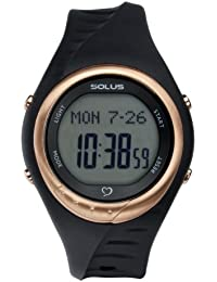 Solus Unisex Digital Watch with LCD Dial Digital Display and Black Plastic or PU Strap SL-300-001