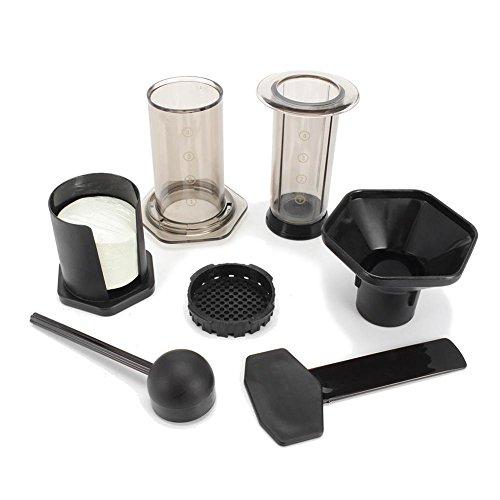 Tragbare Französische Presse, Kaffeemaschine, Ähnliche Aeropresse, Espressomaschine, wiederverwendbar, Edelstahl, Filter + 350 Filterpapier