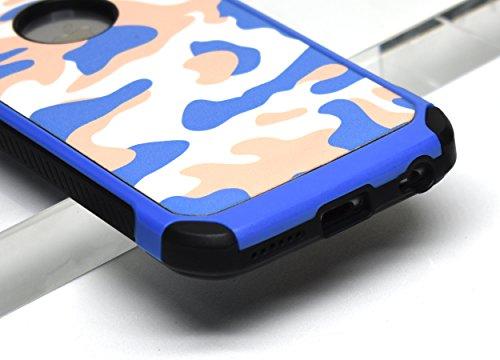 iPhone 6 hülle, iPhone 6s Holster hülle Flip nach oben und unten Handy hülle Premium PU Leder Tasche Flip Case Etui Handy Schutz Hülle für Apple iPhone 6 / 6s - Braun Blau 2