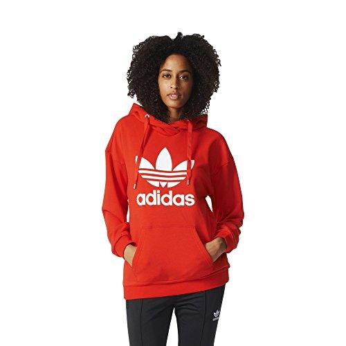 adidas Damen Trefoil Hoodie, Core Red, 36 -