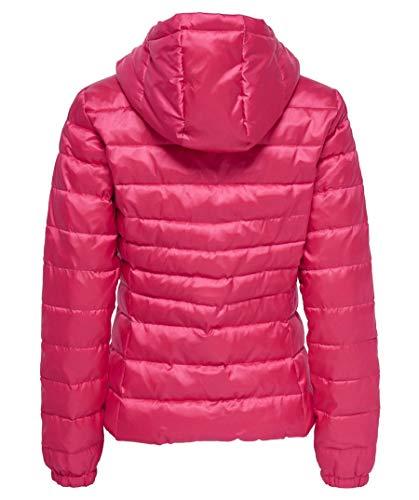 ONLY Damen Steppjacke Übergangsjacke Kapuzenjacke, Virtual Pink - 2
