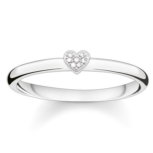 THOMAS SABO Damen Ring Herz 925er Sterlingsilber D_TR0014-725-14