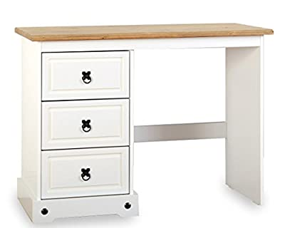 ValuFurniture Corona 3 Drawer Dressing Table - White - low-cost UK light shop.