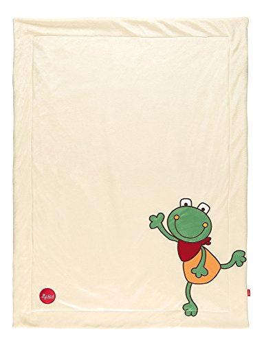 sigikid, Mädchen und Jungen, Kuscheldecke Frosch, Folunder Frog, Sand, 41560
