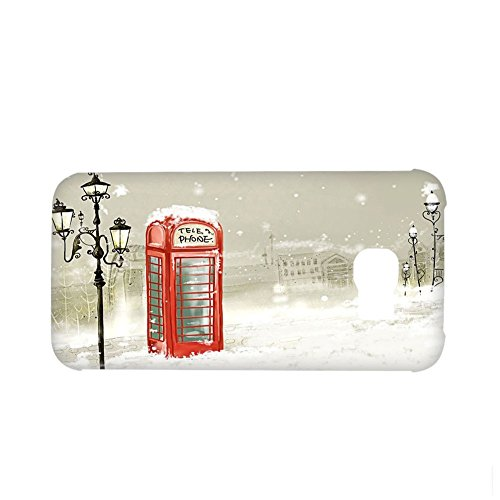 Thinfic for S6 Edge Samsung Phone Case have with English Telephone Box Plastics Satisfied for Girls (Voi-box)