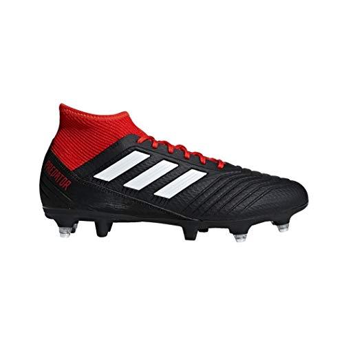 adidas Predator 18.3 SG, Chaussures de Football Homme, Noir (NegbásFtwblaRojo 001), 40 EU