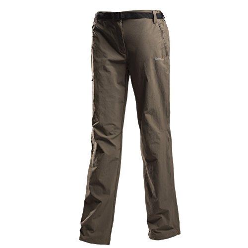 Regatta Wm Xert Stretch Trousers roasted Damen Wander- und Freizeithose Kurzgröße grau