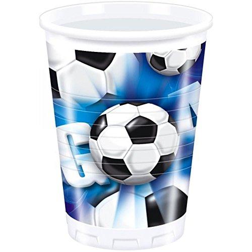 JT de licencias 1A Fulfillment 4805–Fútbol Azul Taza, varios juguetes, 10unidades, 200ml