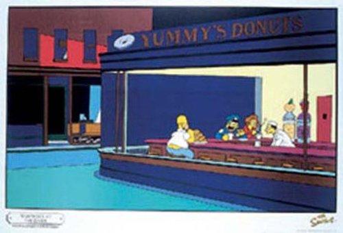 Empire 12159 - Poster, motivo: Simpson, Homer in stile Edward Hopper, 91,5x61 cm