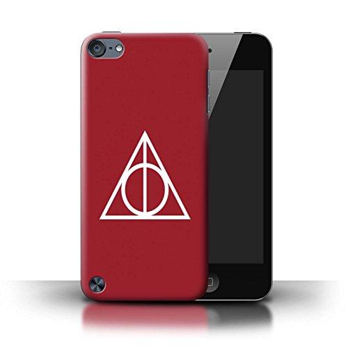 Stuff4® Hülle/Case für Apple iPod Touch 5 / Rot Muster/Heiligtümer Todes Inspiriert Kollektion Rot Ipod Touch